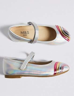 Marks and Spencer Kidsâ Rainbow Ballerina Pumps (5 Small - 12 Small)