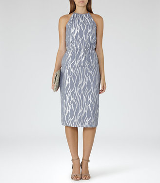 Cass Metallic Burnout Dress $345 thestylecure.com