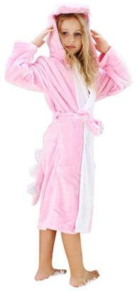 WDA Kids Unicorn Costumes Animal Pajamas Bathrobe Fleece Robes for Children