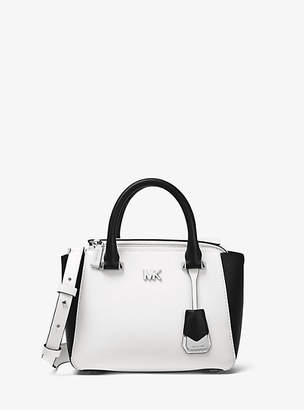 Michael Kors Nolita Mini Color-Block Leather Crossbody