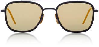 Thom Browne Sun Square-Frame Metal Sunglasses