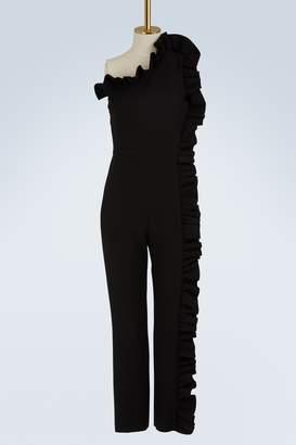 MSGM Ruffled asymmetric jumpsuit