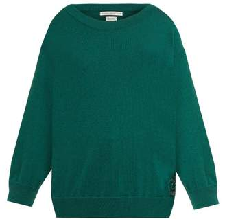 Queene and Belle Round Neck Cashmere Sweater - Womens - Dark Green