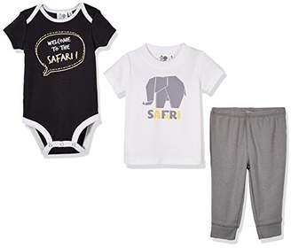 Silly Spples Unisex Baby Cotton Blend 3-Piece Short-Sleeve Bodysuit Onesies