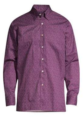 Canali Contemporary-Fit Floral Sport Shirt