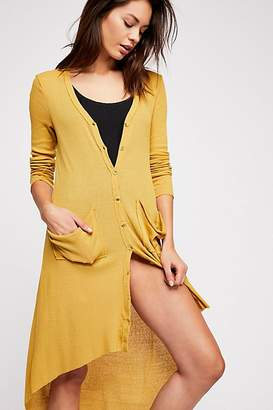 Fp Beach Ribbed Up Maxi Cardigan