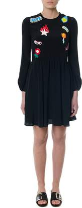 Dondup Black Patched Dress