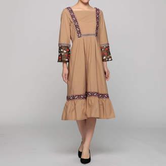 Agris アグリス 刺繍ドレス