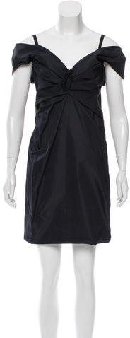 Marc Jacobs Marc Jacobs Off-The-Shoulder Silk Dress