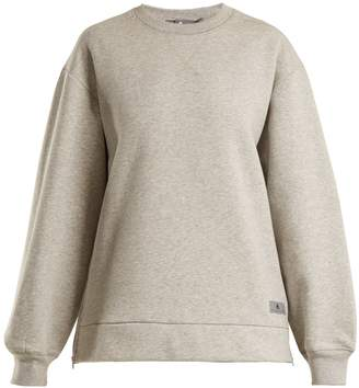 adidas by Stella McCartney Crew-neck cotton-jersey sweater