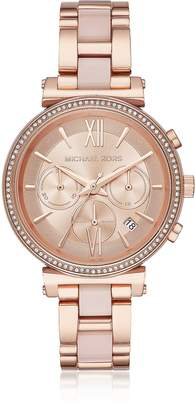 Michael Kors Sofie Rose Gold-Tone and Acetate Women's Watch