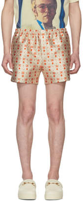 Gucci Gold and Orange Seashell Shorts