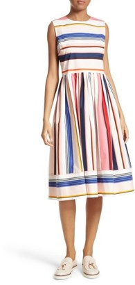 Women's Kate Spade New York Berber Stripe Fit & Flare Dress $428 thestylecure.com