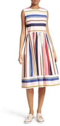Women's Kate Spade New York Berber Stripe Fit & Flare Dress $428 thestylecure.com