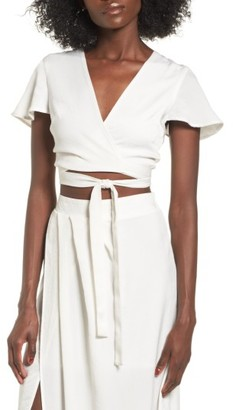 Women's 4Si3Nna Wrap Crop Top $45 thestylecure.com