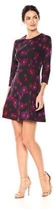 Trina Turk Trina Women's Leoti 3/4 Sleeve Ponte Knit A-Line Dress