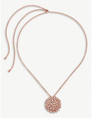 Folli Follie Bouquet ose-gold plated and cubic zirconia long necklace