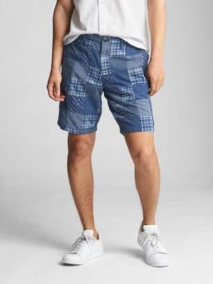 """Gap 10"""" Patchwork Vintage Wash Shorts"""
