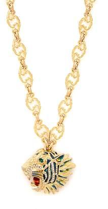 Gucci Roaring tiger pendant necklace