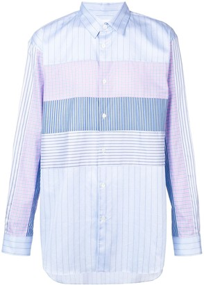 Comme des Garcons panelled button-down shirt
