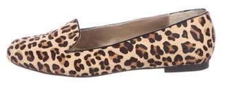 Adrienne Vittadini Ponyhair Round-Toe Loafers