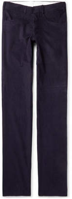 Anderson & Sheppard Slim-Fit Cotton-Corduroy Trousers