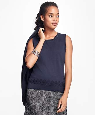 Supima® Cotton Pointelle Shell $48 thestylecure.com