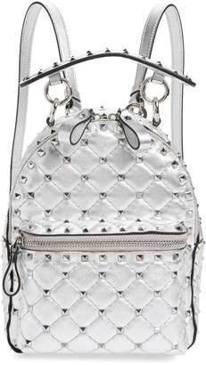 Valentino Mini Rockstud Metallic Leather Backpack