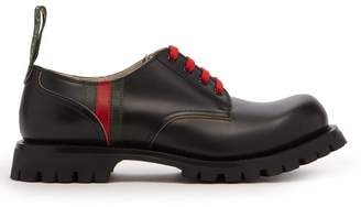 Gucci Arley Leather Derby Shoes - Mens - Black