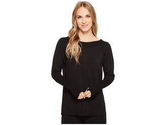 Tribal Long Sleeve French Terry Boat Neck Top