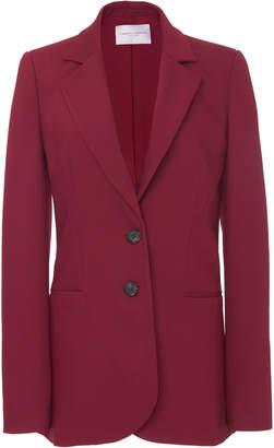 Carolina Herrera Tailored Crepe Collared Jacket