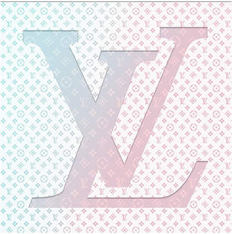 Louis Vuitton (ルイ ヴィトン) - FLUORESCENT PALACE BUBBLE GUM LV キャンバス ウッド アートパネル 30x30
