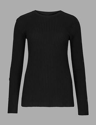Marks and Spencer Textured Long Sleeve T-Shirt