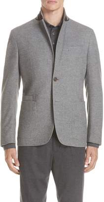 Ermenegildo Zegna Trim Fit Wool & Cashmere Sport Coat