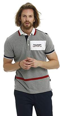 Galvanni Men's Ketchikan Polo Shirt, (Grey Melange Multi 1006), XX-Large