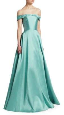 ML Monique Lhuillier Off-the-Shoulder Ball Gown