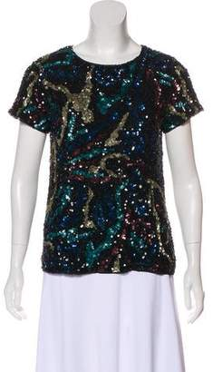 Zadig & Voltaire Sequin Short Sleeve Top