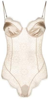 Kiki de Montparnasse Silk and Lace Bodysuit