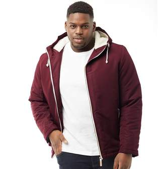 Brave Soul Mens Plus Size Skagen Padded Jacket Burgundy