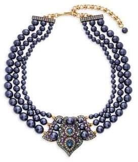 Heidi Daus Crystal Antiqued Center Collar Necklace