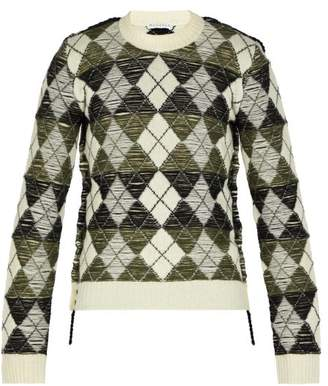 J.W.Anderson Argyle Wool Sweater - Mens - Black White