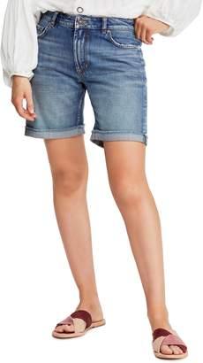 Free People Ivy Long Denim Shorts