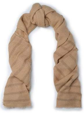 Brunello Cucinelli Metallic Striped Knitted Scarf