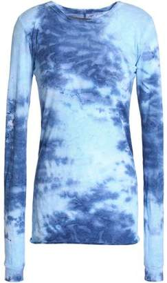 Enza Costa Tie-Dyed Pima Cotton-Jersey Top