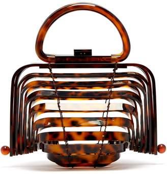 Cult Gaia Lilleth acrylic top-handle bag