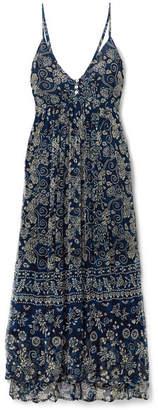 Mes Demoiselles Barathi Printed Crepon Maxi Dress - Blue