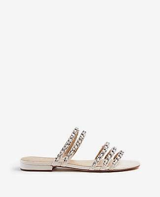 Ann Taylor Wesley Chain Flat Sandals