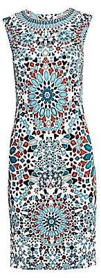 Roberto Cavalli Women's Sleeveless Mosaic Sheath Dress