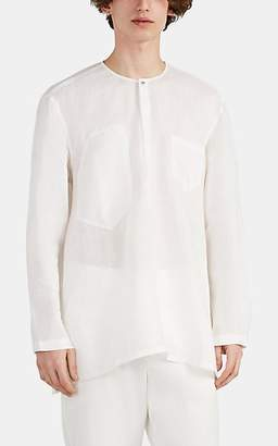 e662a85fcc6 Siki Im Men's Slub Linen Tunic Shirt - White