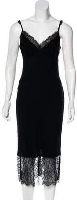 Diane von Furstenberg Lace-Trimmed Slip Dress